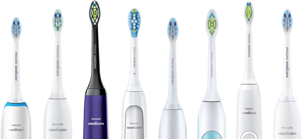 Gamme de brosses à dents Philips Sonicare