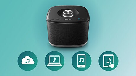 Play multiroom music wirelessly from all sources